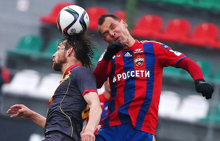 ЦСКА одержал победу над тульским «Арсеналом» вматче чемпионата Российской Федерации
