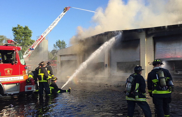 Вамериканском Кембридже вспыхнул превосходный пожар
