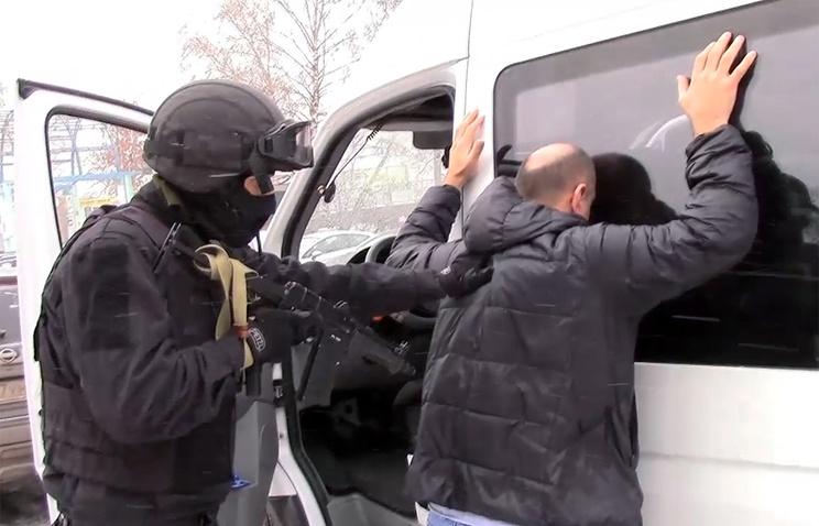 Размещено видео задержания в столице подозреваемых вэкстремизме