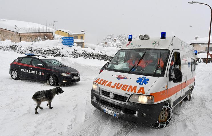 Русских туристов небыло витальянском отеле, накоторый сошла лавина