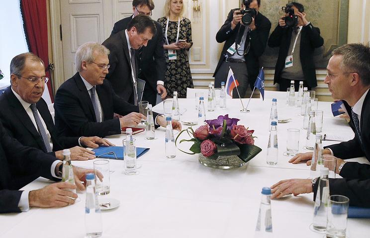 Сергей Лавров и Йенс Столтенберг, 17 февраля