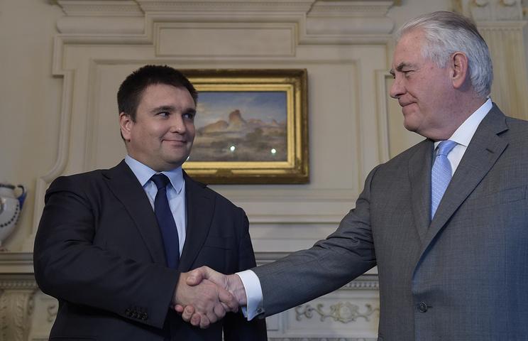 Глава МИД Украины Павел Климкин и госсекретарь США Рекс Тиллерсон (слева направо)