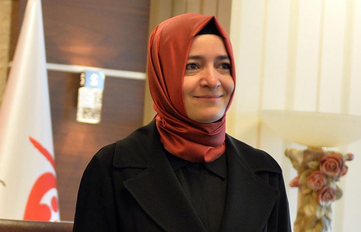 Турецкий министр по делам семьи и социальной политики Фатма Бетюль Сайян Кайя