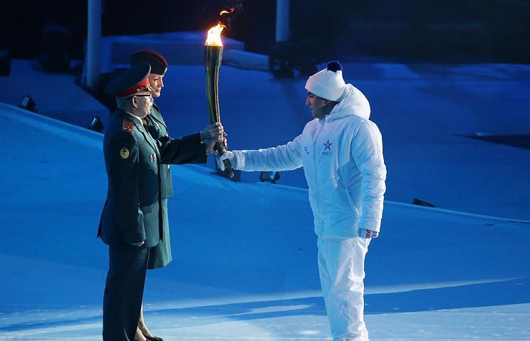 Эстафета огня на церемонии открытия Всемирных военных игр