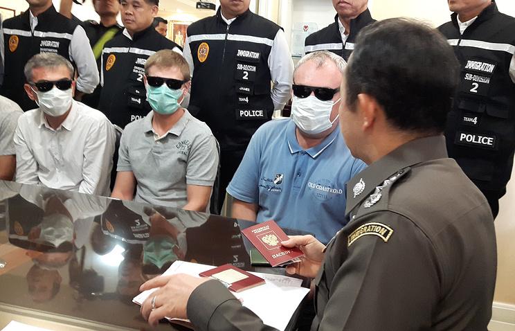 ВТаиланде задержали троих граждан России  для депортации на отчизну
