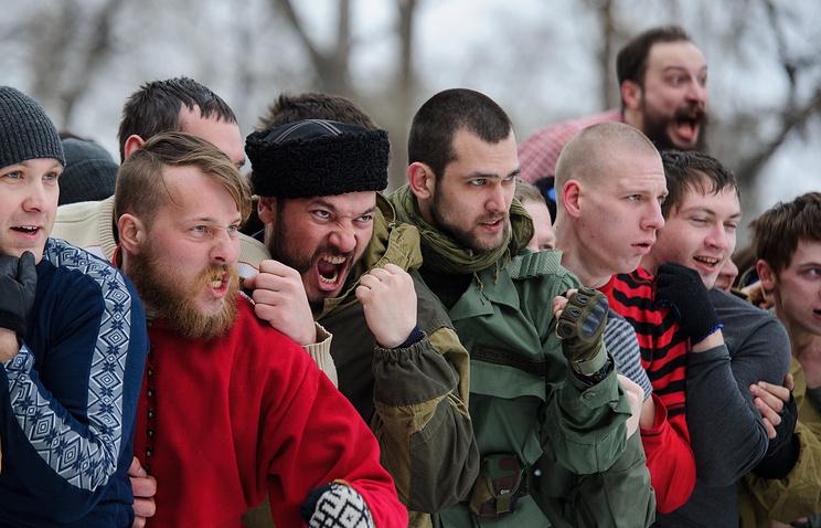 СМИ Великобритании приняли кулачные бои сМасленицы затренировки русских фанатов
