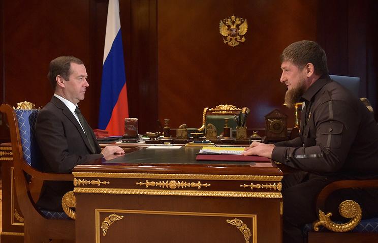 Дмитрий Медведев и Рамзан Кадыров, Москва, 30 марта
