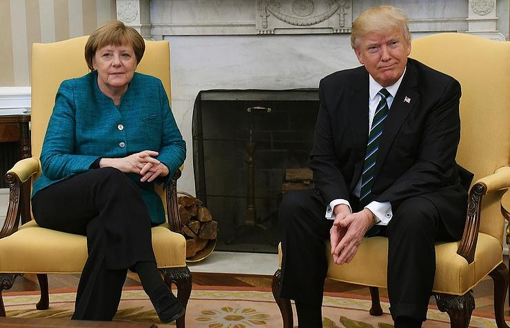 Трамп: Ярасхожусь сМеркель вовзглядах наНАТО ивопросы миграции