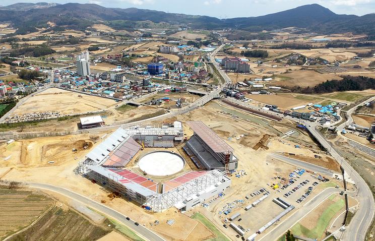 Строительство олимпийского стадиона в Пхенчхане