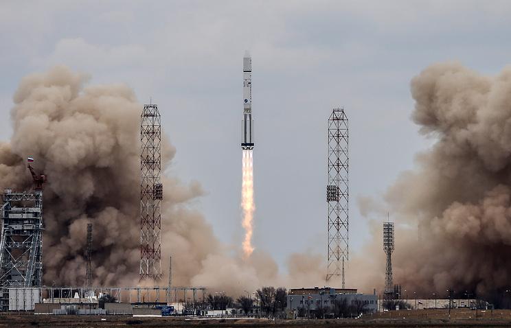 Первая загод ракета «Протон-М» стартовала сБайконура