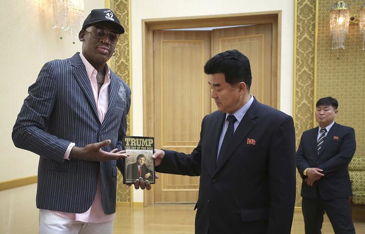 Экс-звезда НБА Родман вернулся вСША изКНДР