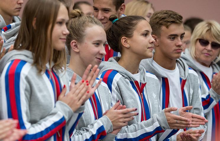 Во время проводов сборной России на Европейский юношеский олимпийский летний фестиваль