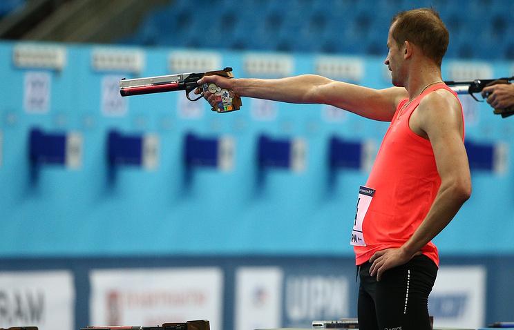 Житель россии Лесун завоевал золотоЧЕ посовременному пятиборью вМинске