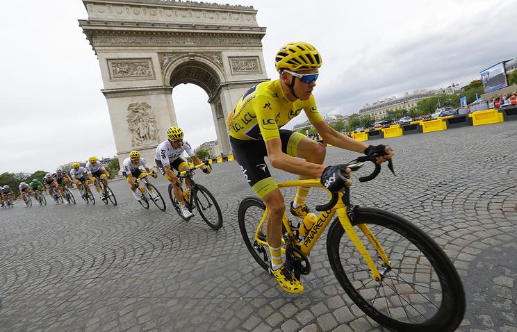 Англичанин в 4-й раз одержал победу велогонку «Тур деФранс»