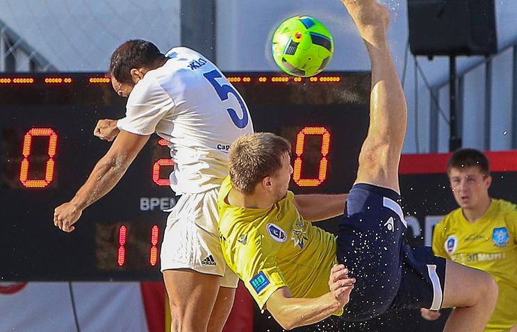 Сборная Российской Федерации разгромила команду Греции вматче этапа Евролиги попляжному футболу