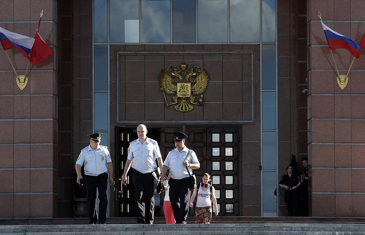 У здания Московского областного суда, где произошла перестрелка