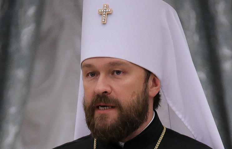 Председатель отдела внешних церковных связей Московского патриархата митрополит Волоколамский Иларион (Алфеев)