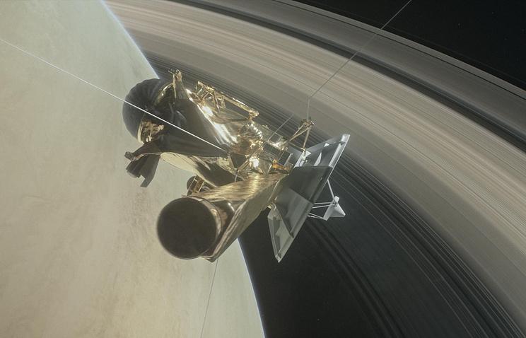 Зонд Cassini в представлении художника