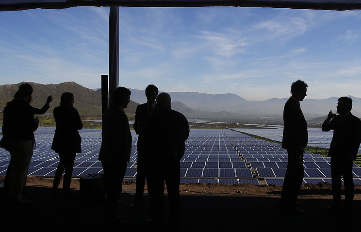 Солнечный парк Quilapilun мощностью 110 мегаватт, в столичном регионе Сантьяго, Чили
