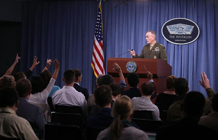 Председатель Комитета начальников штабов вооруженных сил США генерал Джозеф Данфорд