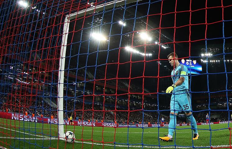 Акинфеев пропустил мяч в43-м матче основной стадии Лиги чемпионов подряд