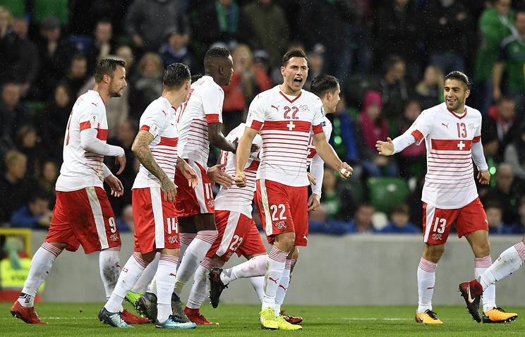 Швейцария одолела на«Виндзор Парк» Сев. Ирландию вотборе наЧМ
