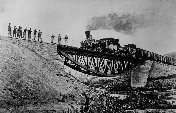 Железная дорога в Сибири, 1911 год