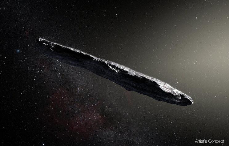 Концепт межзвездного астероида Оумуамуа