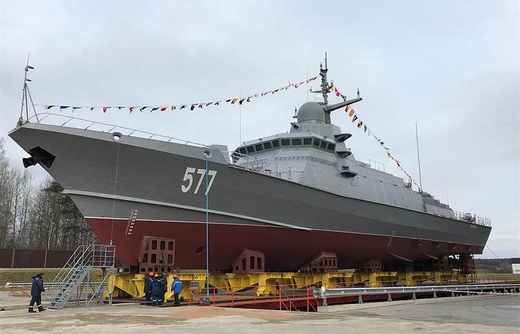 ВПетербурге спустили наводу 1-ый корабль проекта 22800 «Тайфун»