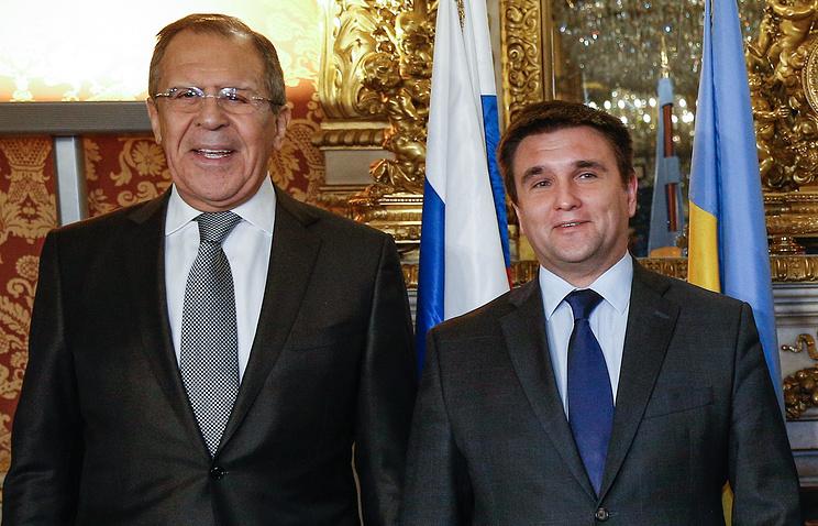 Министр иностранных дел России Сергей Лавров и министр иностранных дел Украины Павел Климкин