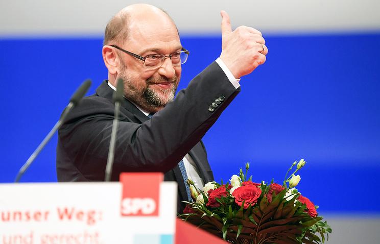 Председатель Социал-демократической партии Германии (СДПГ) Мартин Шульц