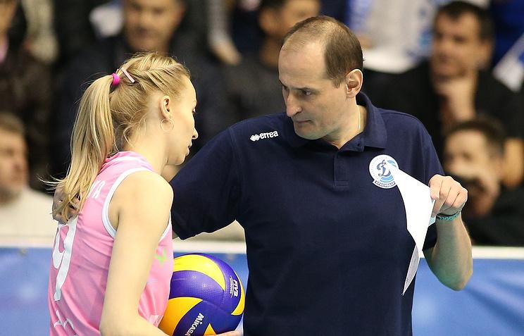 Волейболистка Наталья Ходунова и главный тренер женской сборной России по волейболу Константин Ушаков