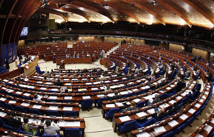 Парламентская ассамблея Совета Европы в Страсбурге