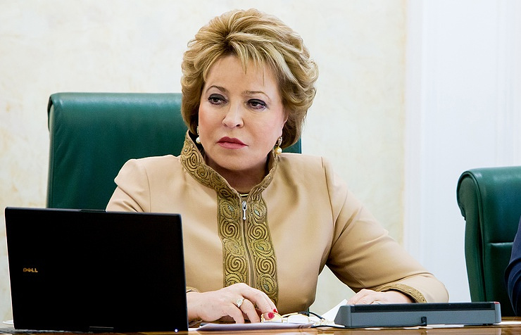 Матвиенко потребовала реформы MOK иWADA