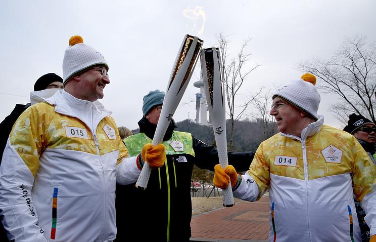Глава ООН Мирослав Лайчак (слева) и президент Международного олимпийского комитета Томас Бах