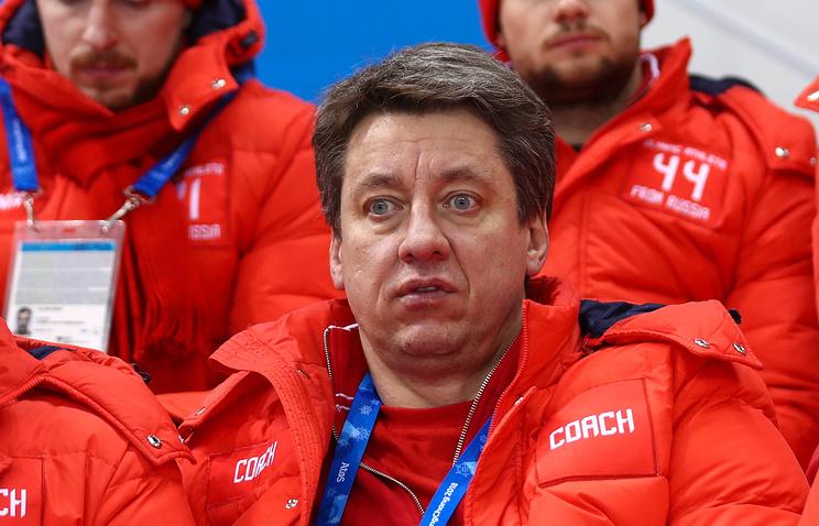 Тренер хоккейной команды олимпийских атлетов из России Харийс Витолиньш