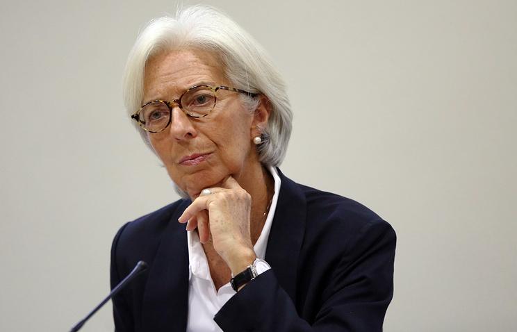 Директор-распорядитель Международного валютного фонда (МВФ) Кристин Лагард
