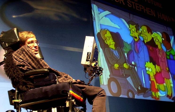 """Стивен Хоккинг на публичной лекции """"Наука в будущем"""" в Бомбее"""