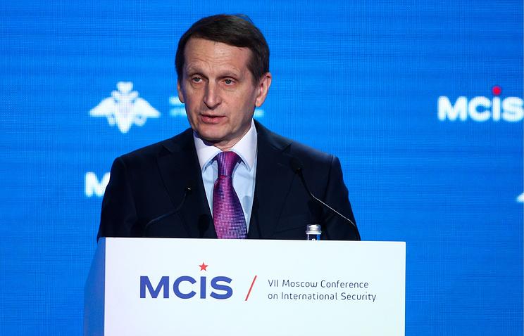 Руководитель Службы внешней разведки РФ Сергей Нарышкин