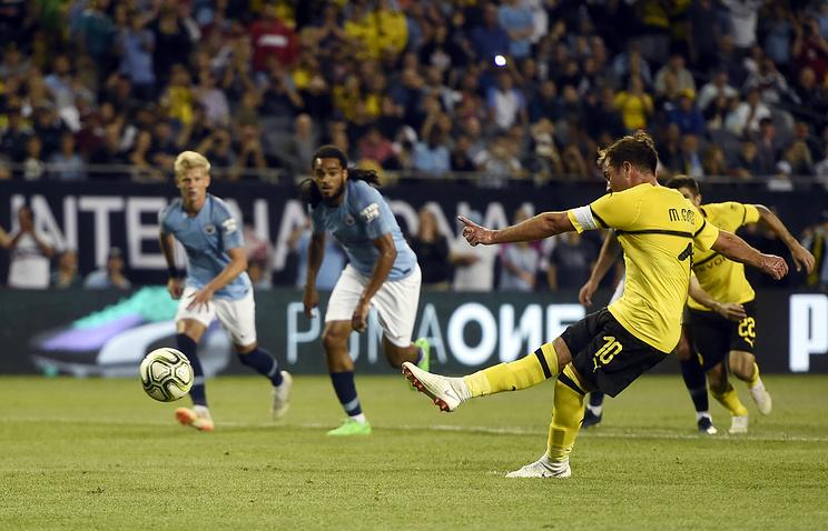 «Боруссия» обыграла «Манчестер Сити» вматче интернационального кубка чемпионов вСША