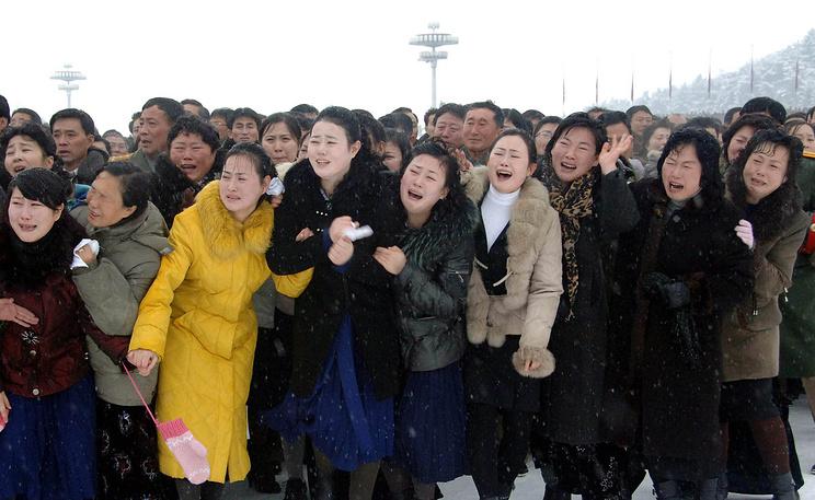 Жительницы КНДР на церемонии государственных похорон Ким Чен Ира. Фото ЕРА/ИТАР-ТАСС