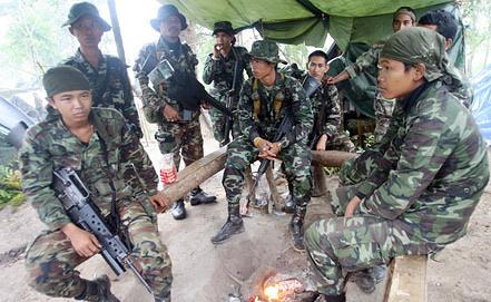 Солдаты армии Таиланда. Фото EPA/ИТАР-ТАСС