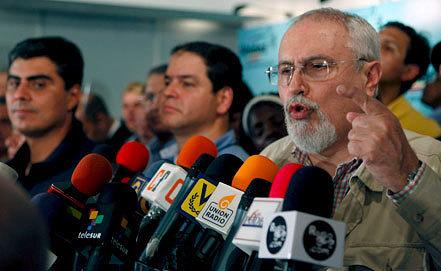 Лидер Коалиции оппозиционных партий Рамон Гильермо Авеледо.            Фото ЕРА/ИТАР-ТАСС