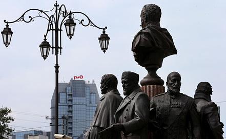 Памятник создателям железных дорог России, фото ИТАР-ТАСС/ Валерий Шарифулин