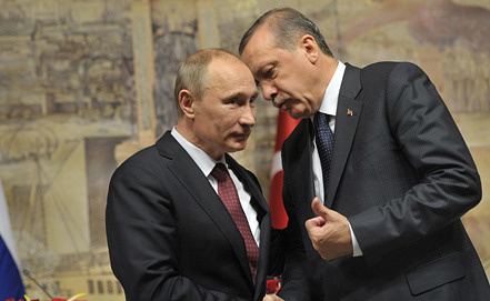 Владимир Путин и Реджеп Тайип Эрдоган. Фото ИТАР-ТАСС/ Алексей Никольский