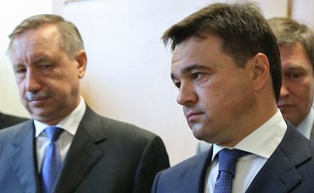 Александр Беглов и Андрей Воробьев (слева направо). Фото ИТАР-ТАСС/ Александра Мудрац