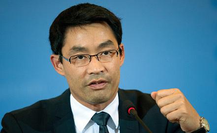 Министр экономики и новых технологий Германии Филипп Рёслер. Фото ЕРА/ИТАР-ТАСС