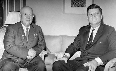 Н.С.Хрущев и  Д.Ф.Кеннеди. 1962 год. Фото ИТАР-ТАСС