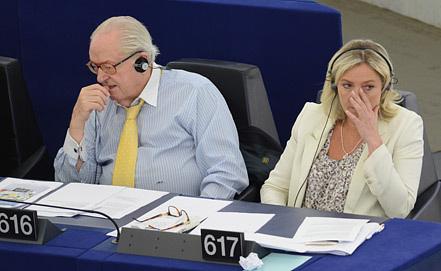 Марин Ле Пен на заседании.  Фото EPA/ИТАР-ТАСС