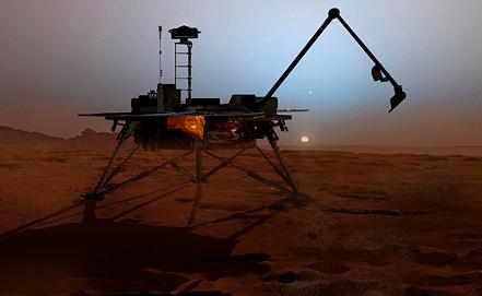 "Компьютерное изображение аппарата NASA ""Феникс"". Фото EPA/ИТАР-ТАСС"